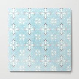 Christmas snowflakes pattern Metal Print