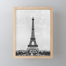 Eiffel tower, Paris France in black and white with painterly effect Framed Mini Art Print