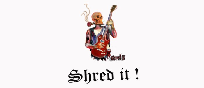 Shred it Skull guitar player  Coffee Mug