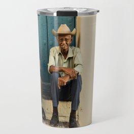 Two old Cuban men Travel Mug