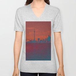 CN Tower skyline Unisex V-Neck
