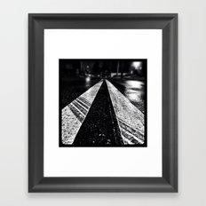 Wet asphalt. Framed Art Print