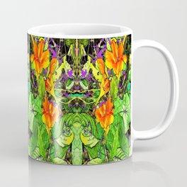 Nasturtiums Garden Abstract Art Coffee Mug