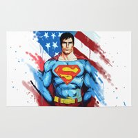 man of steel Area & Throw Rugs featuring Man of Steel by Dave Franciosa