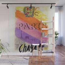 Paris, France Vintage Marc Chagall Art Show Mourlot Exhibition Advertisement Vintage Poster Wall Mural
