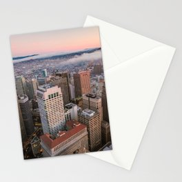 Sunset View Over San Francisco Stationery Cards
