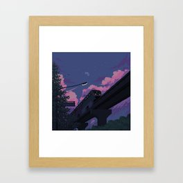 Moonrise twilight Framed Art Print