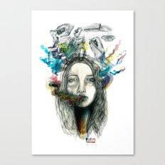 dreams of smoke Canvas Print