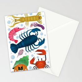Crustaceans Stationery Cards