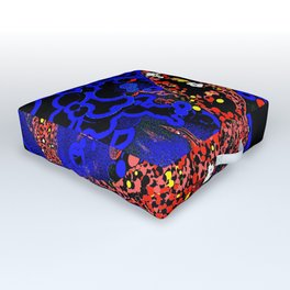 Koi Carp: Woodcut Outdoor Floor Cushion