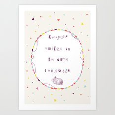 Smile Language Art Print