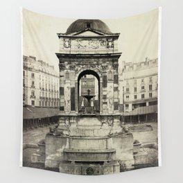 Fountain of the Innocents, Paris, France Wall Tapestry