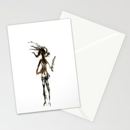 charcoal figurine Stationery Cards