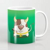 cow Mugs featuring Cow by jebirvoki