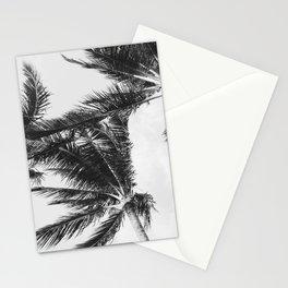 Black and White Hawaiian Palm Trees Stationery Cards