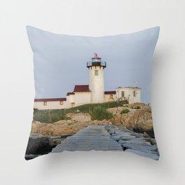 Eastern Point Lighthouse Aug2017 Throw Pillow