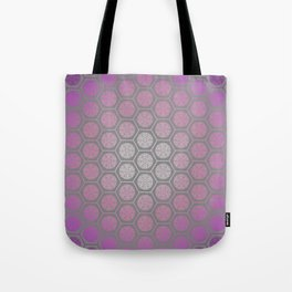 Hexagonal Dreams - Purple Pink Gradient Tote Bag