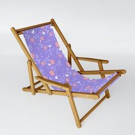 Cute bird and flower pattern Sling Chair