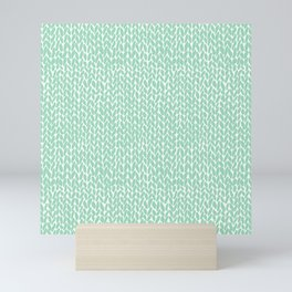 Hand Knit Mint Mini Art Print