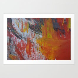 Abstract Paint Swipes Art Print