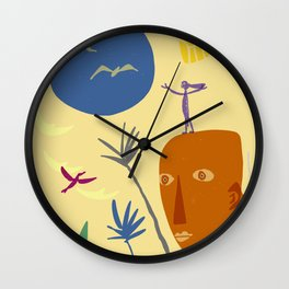 light years of rock blooms Wall Clock