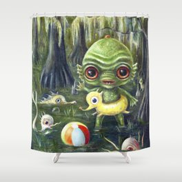 Baby Creature from the Black Lagoon Shower Curtain