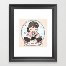 Cooking is the new Yoga Framed Art Print