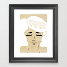 The Lamb Was Sure - Lessons From Mother Goose Series Framed Art Print