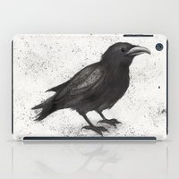 justin timberlake iPad Cases featuring Crow by Puddingshades