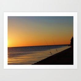 Sunset Fishing Art Print