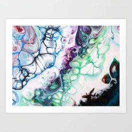 Rainbow Paint Water Colour Art Print