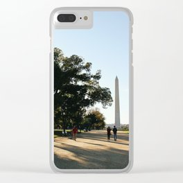 Walking on the Mall Clear iPhone Case