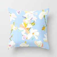 magnolia Throw Pillows featuring Magnolia by 301F