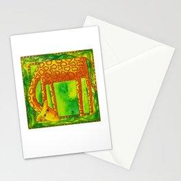 Patterned Giraffe Stationery Cards