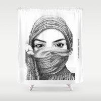 kiki Shower Curtains featuring Kiki by BenHucke