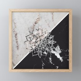 Yin Yang Mandala on Marble #1 #decor #art #society6 Framed Mini Art Print