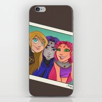 teen titans iPhone & iPod Skins featuring Teen Titan Girls by Angie Nasca