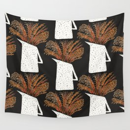 Autumn Still Life with Pampas Grass Wall Tapestry