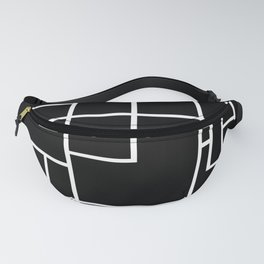 PS Grid Black Fanny Pack
