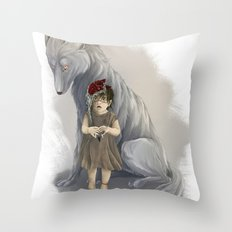 neither human nor wolf Throw Pillow
