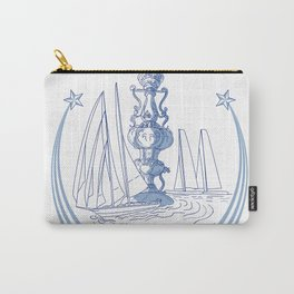 Yacht Club Racing Trophy Cup Drawing Carry-All Pouch