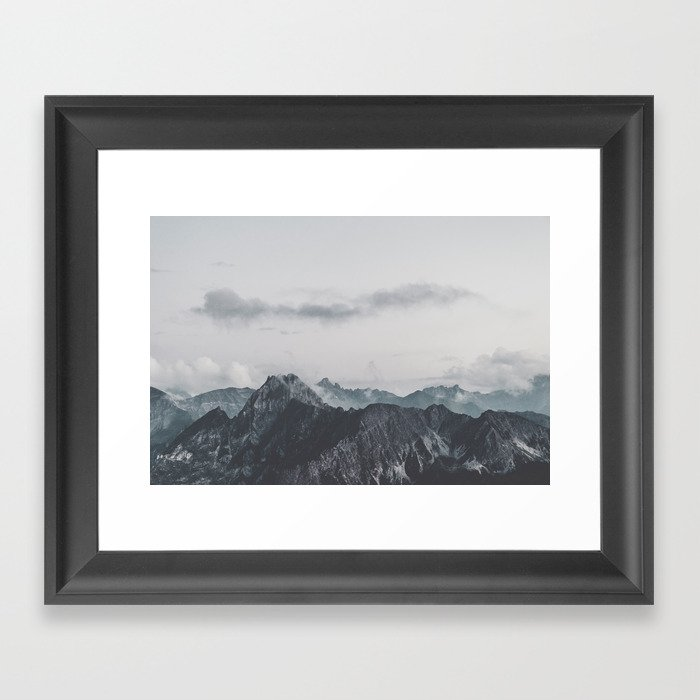 Calm - landscape photography Framed Art Print