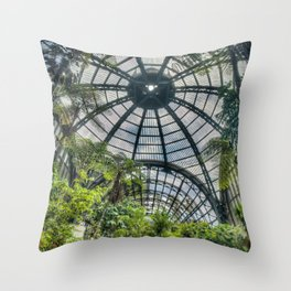 embraced space Throw Pillow