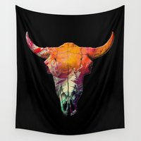 bison Wall Tapestries featuring Bison by Kip Sikora