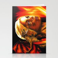 mother of dragons Stationery Cards featuring The Mother of Dragons by Brigitta