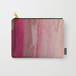 Blush: a pretty and gentle watercolor piece in pinks and browns Carry-All Pouch