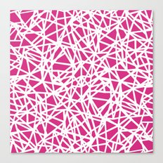 Ab Upside Down Pink Canvas Print