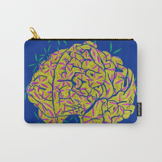 Floral Brain Carry-All Pouch