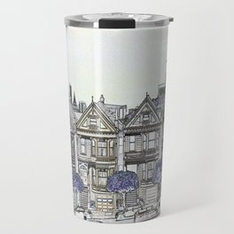 Painted Ladies Digital Drawing Travel Mug