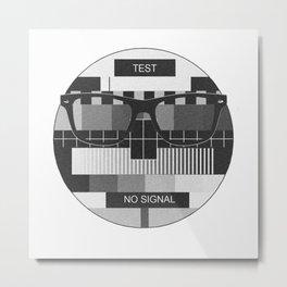 Retro Geek Chic - Headcase Oldschool Metal Print